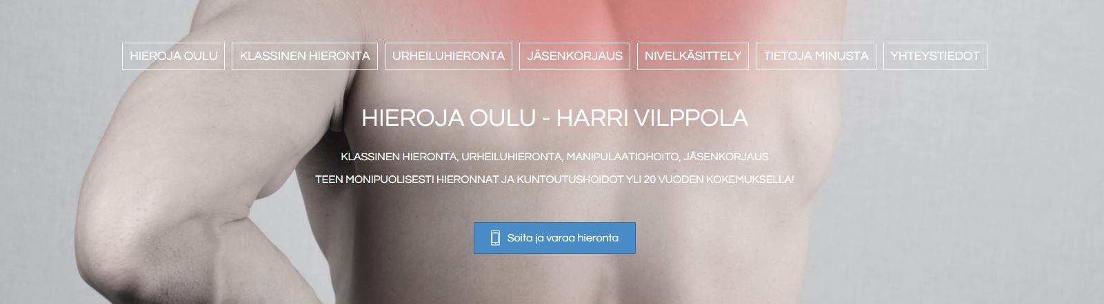 Harri Vilppola - Hieroja Oulu